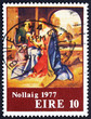 Postage stamp Ireland 1977 Holy Family, by Giorgione, Christmas