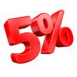 5% Rabatt - 3D Schrift