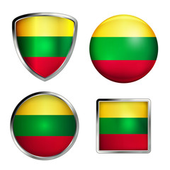 litauen flag icon set