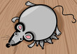 mouse mother with babies cartoon