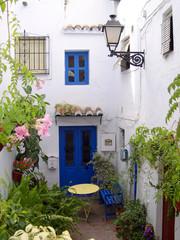 The Narrow Streets of the Andalucian Village of Frigiliana Spain