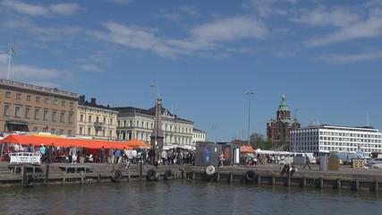 Market square near Helsinki harbour, Finland