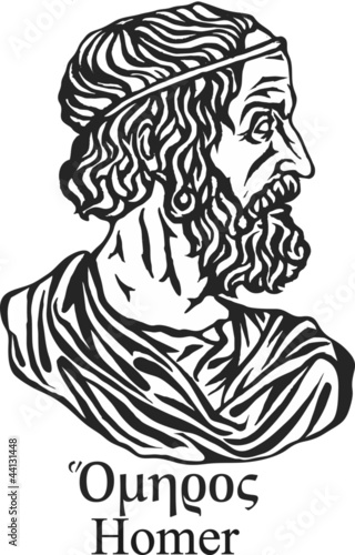 Ancient greek poet Homer.