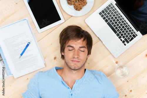 beim lernen eingeschlafen