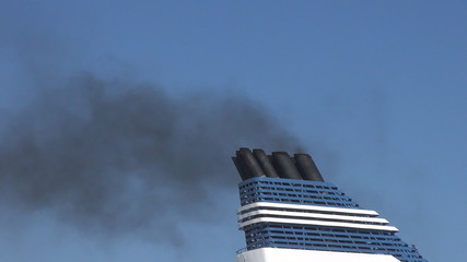 Chimney of a cruise ship