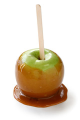 caramel apple, taffy apple, candy apple, toffee apple