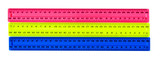 Three color plastic rulers