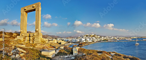panorama of Naxos island, Greece