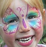 Kinderschminken beim Kinderkarneval