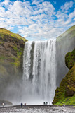 Fototapety waterfall green iceland