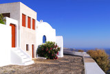 Typical whitewashed houses of Santorini Island, Greece