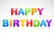 vector illustration of colorful happy birthday candle