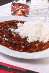 Chili Con Carne (on a plate)