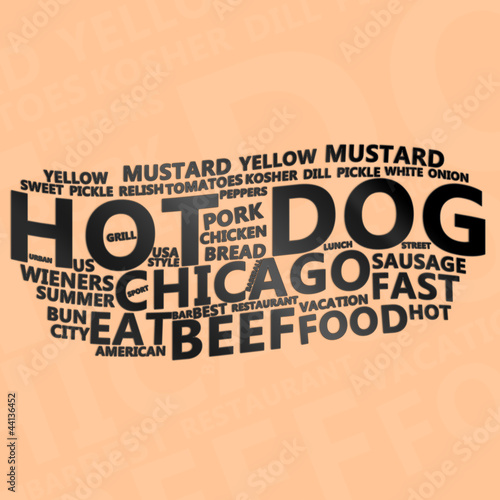 Hot Dog Text Cloud
