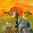 Fototapeten,afrika,tier,kunstvoll,elefant