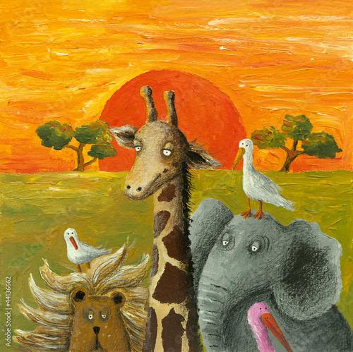 Fototapeten,afrika,tier,künstlerbedarf,elefant