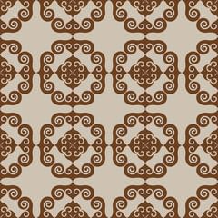 Brown tiles - seamless vector pattern