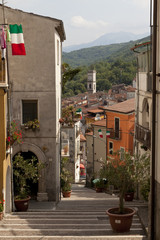 Carpinone, Molise- antico borgo medievale con castello