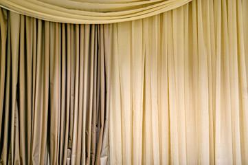 Beige curtain