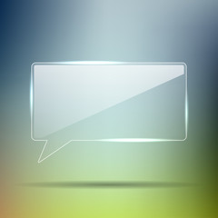 Transparent Glass chat box in vector format