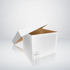 open packing box vector illustration
