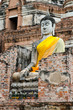 old  Buddha statue in temple