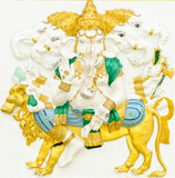 God of success 11 of 32 posture. Indian or Hindu God Ganesha ava