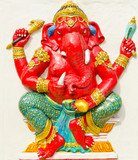 God of success 26 of 32 posture. Indian or Hindu God Ganesha ava