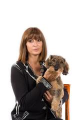 Foto cane e donna