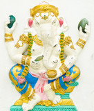 God of success 3 of 32 posture. Indian or Hindu God Ganesha avat
