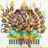 God of success 4 of 32 posture. Indian or Hindu God Ganesha avat