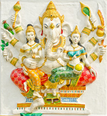 God of success 32 of 32 posture. Indian or Hindu God Ganesha ava