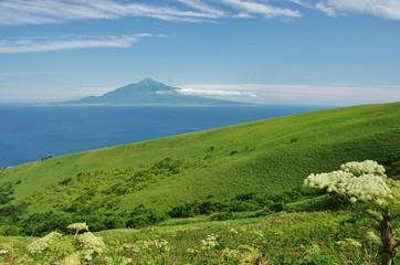 ISLAND green and blue Rebun and Rishiri 利尻富士