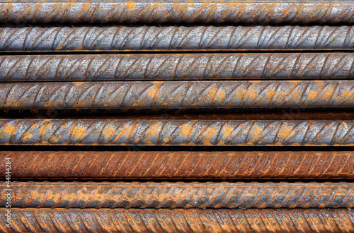 Rusty Rebar Rods Metallic Pattern