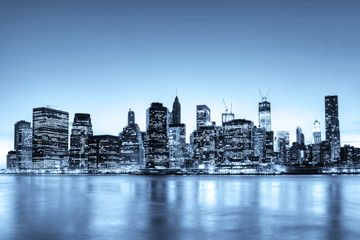 New York Skyline monochromatique.