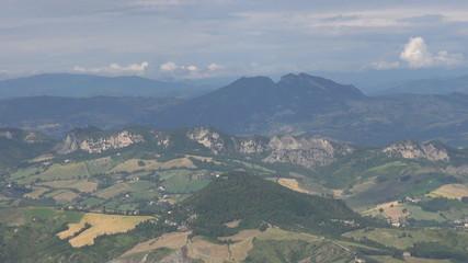Beautiful mountain in San Marino
