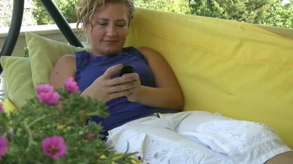 Women Sending A Text Message
