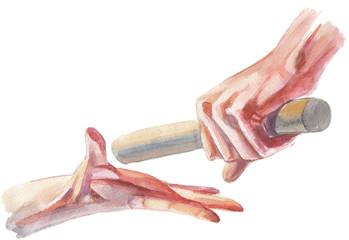 hand on the baton