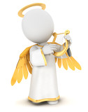 3d white people angel