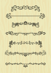 vintage design borders collection