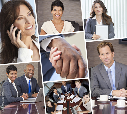 Montage of Businessmen and Women