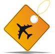étiquette avion