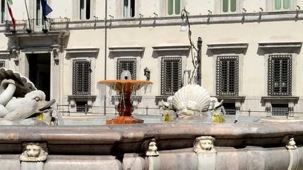 Fontana di Piazza Colonna e Palazzo Chigi