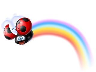 coccinella arcobaleno