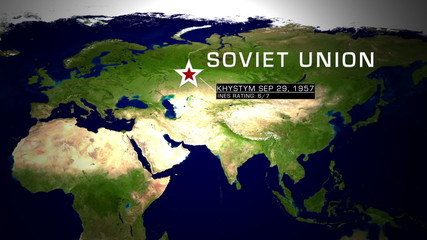 Khystym Soviet Union Nuclear Disaster 1957 animation