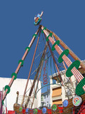 Temporary Structures for Feria or Easter Fair in Nerja Spain poster