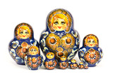 Russian doll matrioska isolated on white background