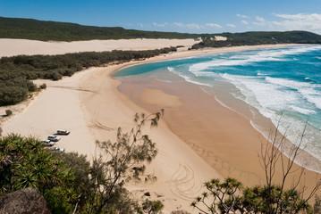 Fraser Island beach landscape, Australia