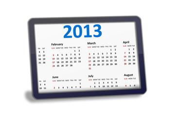 Tablet pc with calendar illustration