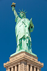 The Statue of Liberty on the Liberty Island in New York City